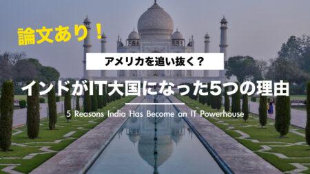 【論文あり】インドがIT大国になった5つの理由|世界で最も発展しているインド