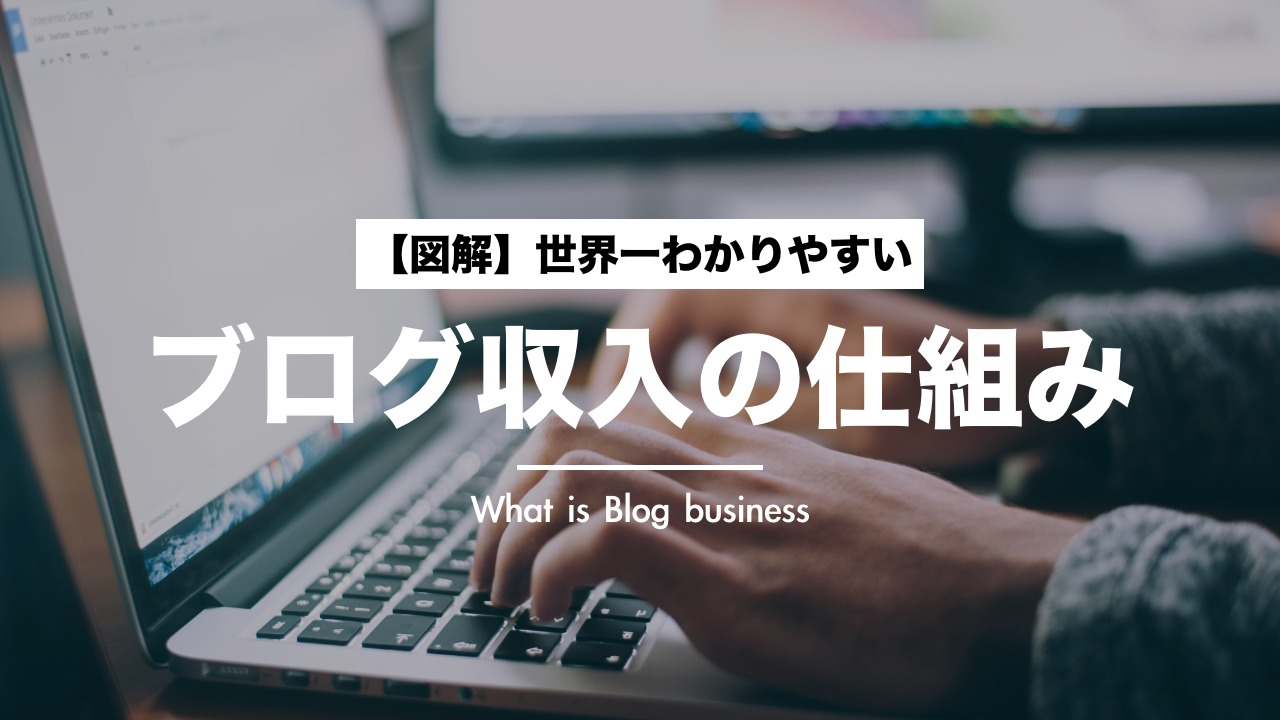 【図解】ブログ収入の仕組みを世界一分かりやすく説明
