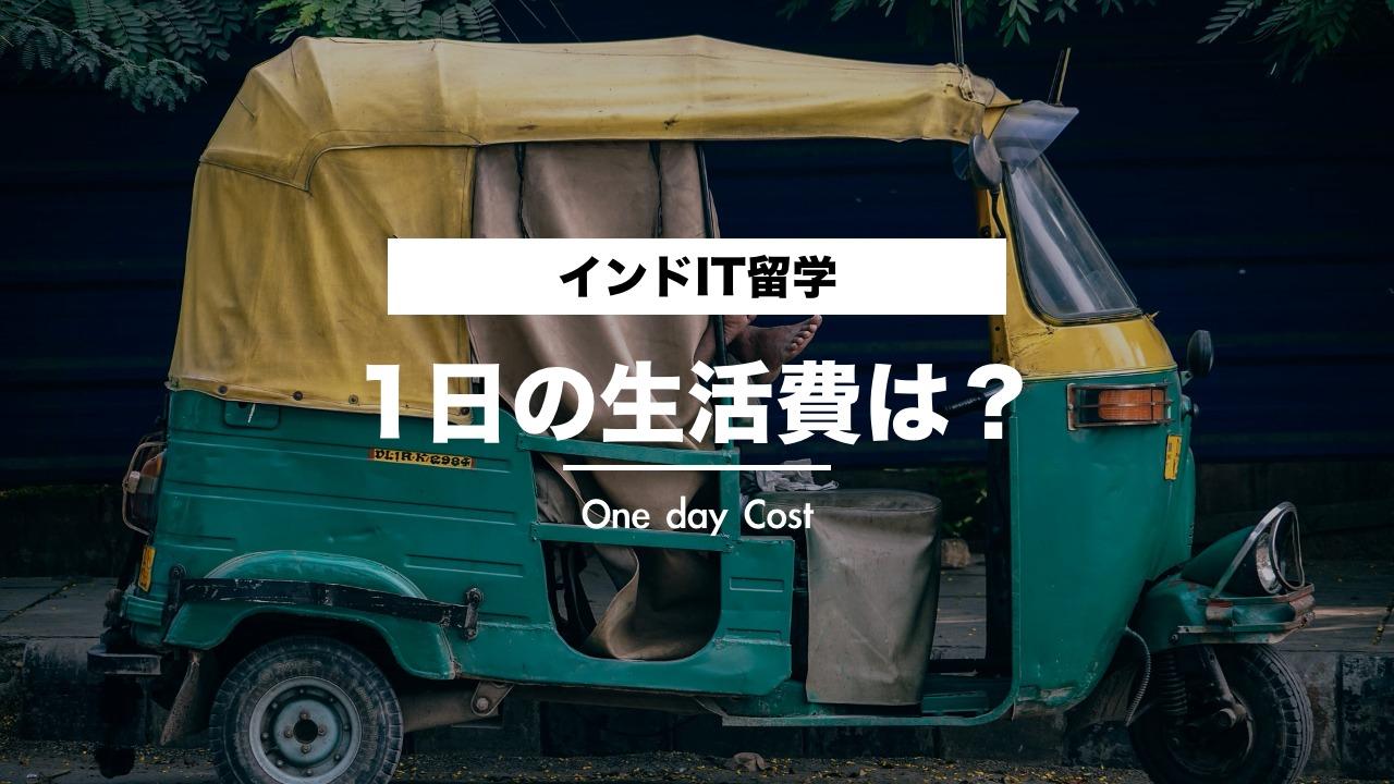 【実体験】IT留学の費用・1日の生活費は?【インドIT留学編】