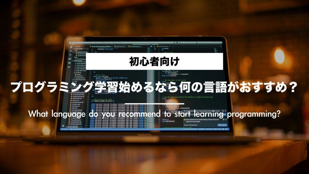 【初心者向け】プログラミング学習始めるなら何の言語がオススメ?
